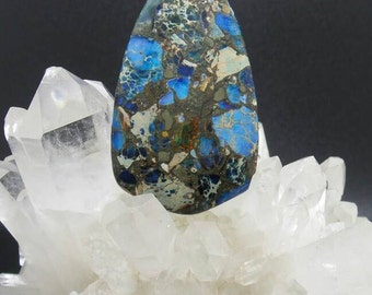 Blue Sea Sediment Jasper Pendant.