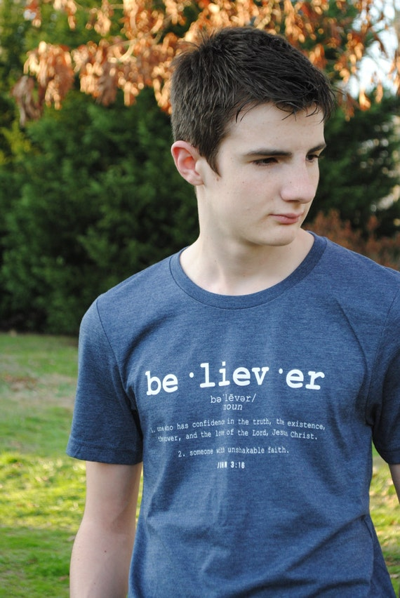 ON SALE!! BELIEVER tshirt | relaxed fit tee | soft tri blend shirt | scripture unisex top