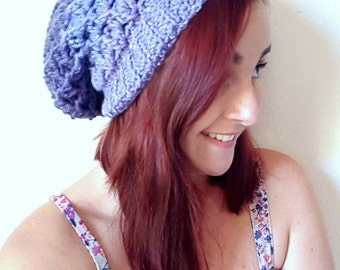 Reversible Lily's Slouchy Beanie Crochet Pattern *PDF FILE ONLY* Instant Download
