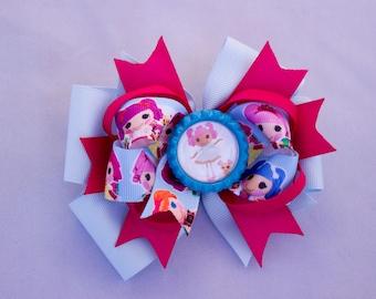 Girl hair bow, baby hair bow, toddler hair bow,  hair bow, girls hair bow, kids hair bow, girls hair bow Lalaloopsy hair bow