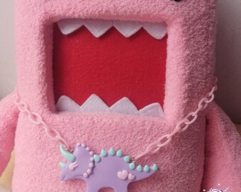 Pastel prehistoric pretties triceratops necklace fairy kei kawaii