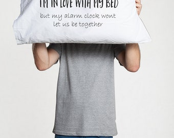 Bedroom decor Funny pillow case gift for boyfriend girlfriend best friend pillowcase cotton anniversary gifts Teen girl boy Creative Quote