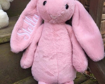 Personalized Plush Easter Bunny, Monogrammed Easter Bunny, Embroidered Easter Bunny, Personalized Easter Bunny