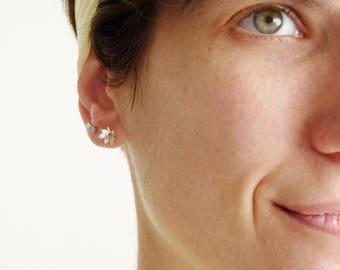 Flower Studs – Sterling Silver Flower Earrings Handmade