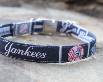 NY Yankees Collar | Dog Collar | Male Dog Collar | Female Dog Collar | Sports Dog Collar | Pet Collar | Large Dog Collar | Small Dog Collar