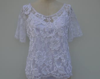 Married lace, Martinique white rebrode lace wedding gown