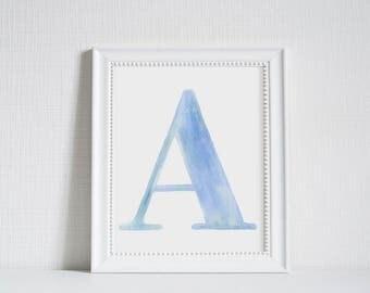 Watercolor Alphabet Letters - Art Prints