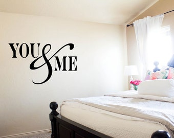 you and me elegant wall decal custom made customize size color and more customized wall stickers