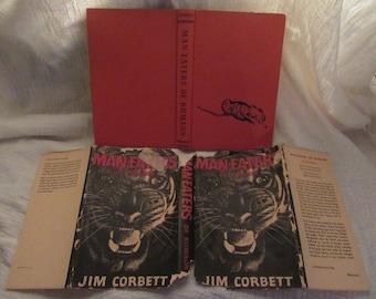 Man-eaters of Kumaon First Edition Hardback Jim Corbett Story About Man-eating Tigers