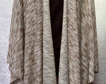 Brown with heather knit wrap