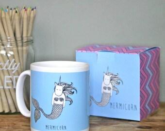 Mermaid Unicorn Mug and Box