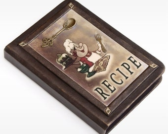 Leather Recipe book, personalized recipe journal, recipe notebook,cookbook, gift for her ,chef gift