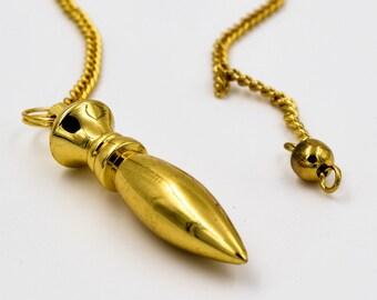 Gold laiton Pendulum,  pendulum, ask your pendulum, ideas for gift, divination pendulum, Pendulum Radiesthesie, Esotérique, Divination