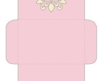 Envelope with a Deco Cutout on the flap - Designed for a 4 X 6 Card included in the file