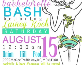 Party Invite - Bachelorette Party Invitation - Pool party - Beach party - PDF ONLY