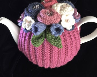 Hand Knitted Tea Cosy, Tea cosies, Tea Cozy (4-6 cup)