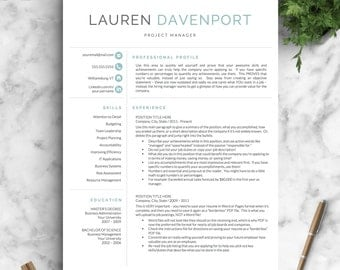 professional and modern resume template for word and pages creative resume design cv template