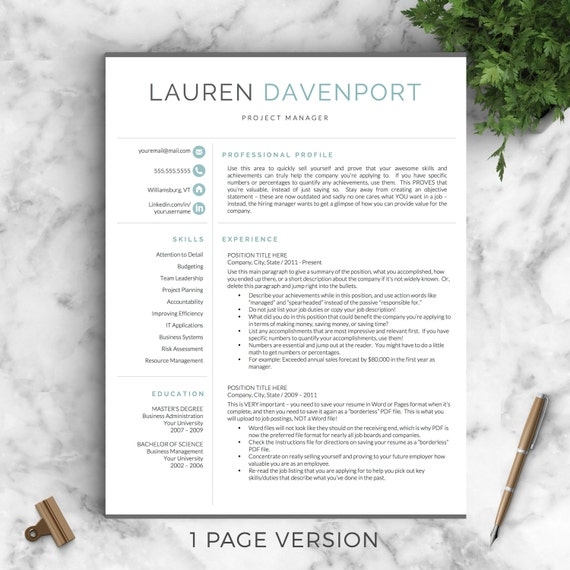 modern resume templates word professional and modern resume template for word and pages 23682