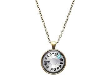 Photographer pendant Camera necklace Dial jewelry