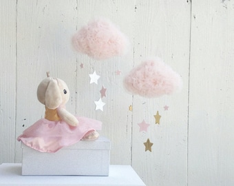 Little Blush Tulle Dreamy Cloud with Stars - Girl Room Decoration
