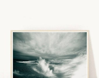 Beach Art, Waves Print, Sea Photography, Printable Art, Waves Photography, Crashing Waves,  Minimalist, Wall Decor, Digital Download