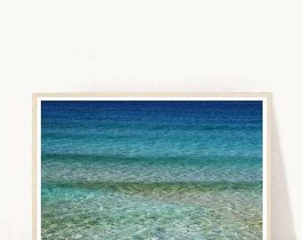 Beach Art Print, Coastal Art, Ocean Waves, Beach Art, Waves Print, Sea Photography, Printable Art, Wall Decor, Digital Download