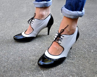 Moss - Oxford Heels, Womens Oxfords, Leather Shoes, Heeled Oxfords, Chic, High Heels, Handmade Shoes, Custom Shoes, FREE customization!!