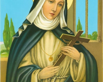 "Saint Rose of Lima Catholic Art Print Picture - 7 1/2"" x 10"" ready to frame!"