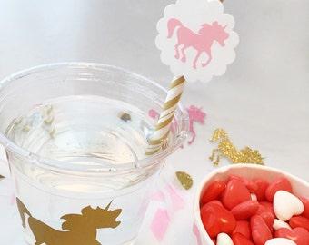 Unicorn Party Cups - Unicorn 1st Birthday - Princess Party - Rainbow Unicorn - Unicorn Theme - Mythical - Fairy Tale - Magical Birthday