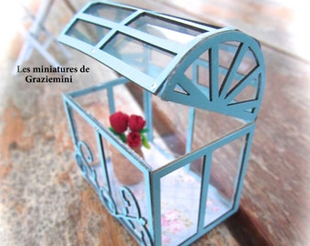 New miniature greenhouse - scale 1:12- Dollhouses miniatures