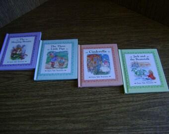 Fairy Tale Treasury Books/ The 3 Little Pigs / Cinderella/ Sleeping Beauty/ Jack & the Beanstalk/ mini hardover storybooks/ retro storybooks