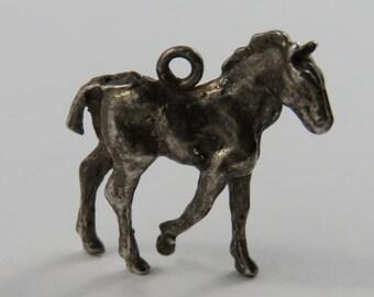 Horse Silver Vintage Charm For Bracelet