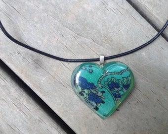 Heart shaped pendant - boho