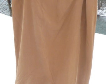 """BRONZE SILK SKIRT 24w Quite Large Wide Hemmed Skirt Image Jones ny 24 1x copper silk skirt 2x silk skirt 41-->45 """" elastic waist"""