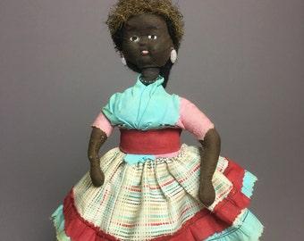 Jamaica Cloth Doll Folk Art Doll Rag Doll - International Doll