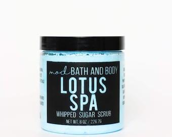 Sugar Scrub Lotus Spa | Whipped Sugar Scrub | Whipped Soap | Bath and Beauty | Sugar Scrub