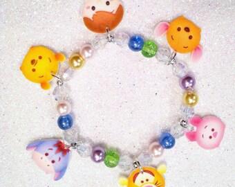 Tsum Tsum Winnie the Pooh Charm Bracelet, Winnie the Pooh, Winnie the Pooh Party Favor