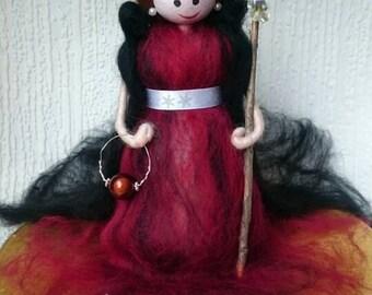 Wool Felt Fairy. Beautiful Pearl Queen