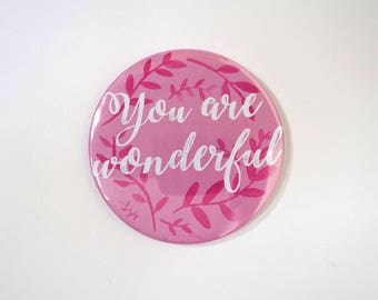 You Are Wonderful Pocket Mirror + Gift Box