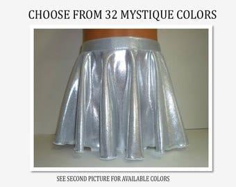 Dance Skirt - Mystique Nylon Lycra - 32 Colors - Sizes: 2T, 3T, Girls 4 - 16, Adult XS - XL