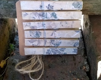 Floral Wooden Pegs, Polk Dot Wooden Pegs, Photo Display, Picture Display, Pretty Pegs