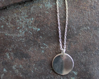 Sterling Silver Medal pendant necklace, circle necklace, Locket