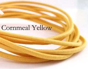 Cornmeal YELLOW - 2mm Elastic Cord - 5 yards - great for traveler's notebooks