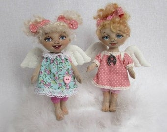 textile doll Spring Angel
