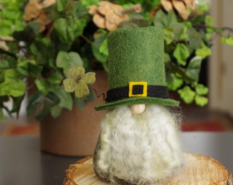 Leprechaun Irish Gnomes, St Patrick's Day, Felt Gnomes, Fairy Gnome, Birthday Gifts for Gnome Lovers, Ireland, Gnome Makers, Forest, Nordic