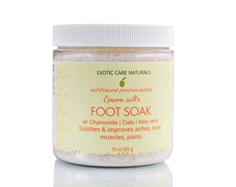 Foot Soak with Soothing & Rejuvenating Epsom Salt, Chamomile, Oats for Sore Muscles, Tired Feet, Pedicure Home Foot Soaking | FREE SHIPPING.