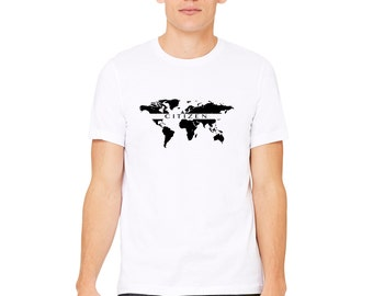 Citizen T-Shirt / Equality Shirt / World Shirt / World Peace Shirt / Map T-shirt / World Map / Men's T-Shirt / Environment Tshirt