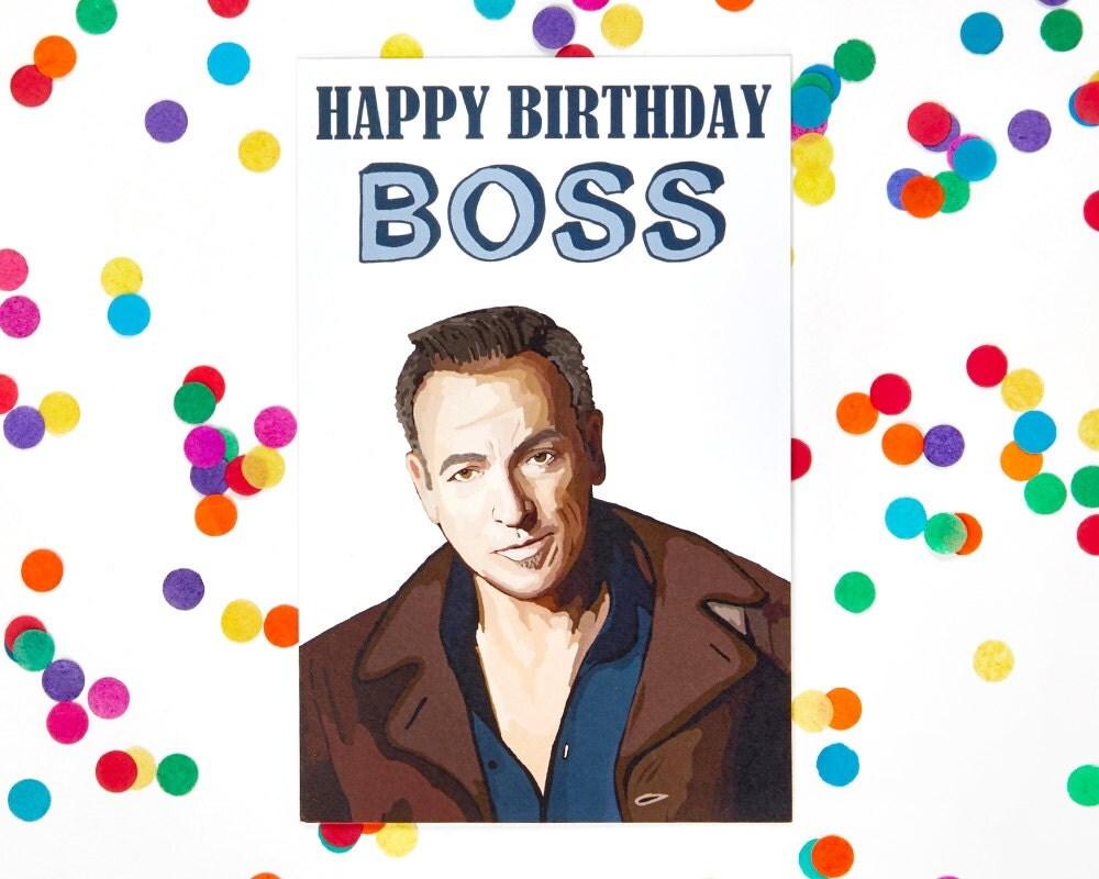 Boss Birthday Card Bruce Springsteen funny birthday card – Zayn Malik Birthday Card