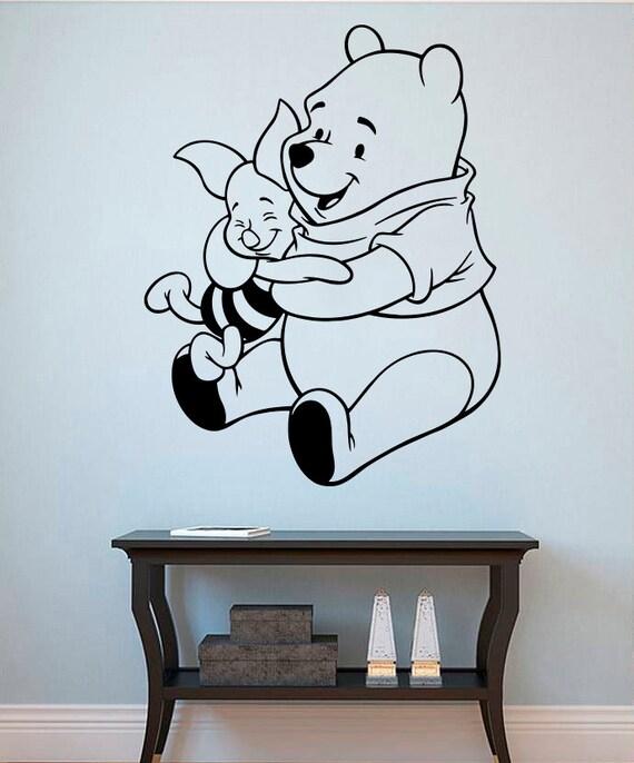 winnie the pooh vinyl sticker pooh bear wall decal nursery wall quote winnie the pooh wall sticker art girls boys