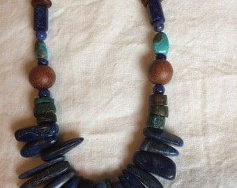 Teardrop Lapis Lazuli Necklace!